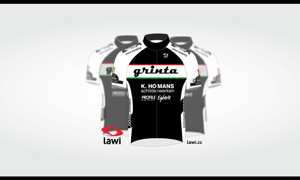 Nieuwe clubkleding wielervereniging Grinta